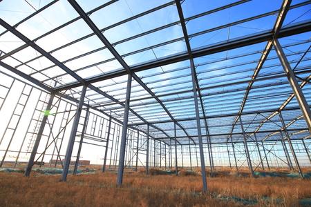Photo pour steel structure is under construction - image libre de droit