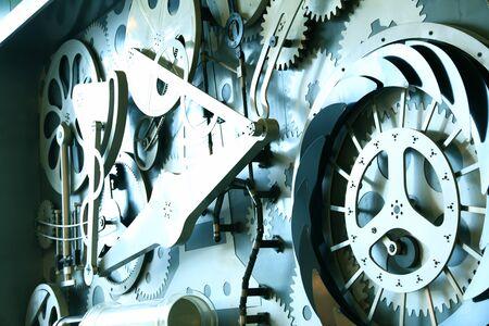 Photo pour Gear on industrial equipment, close-up - image libre de droit