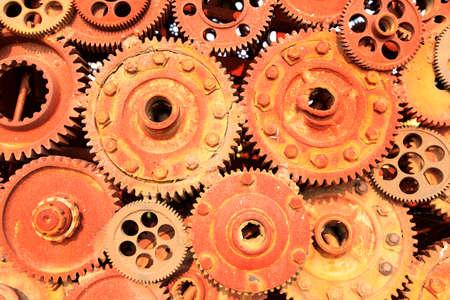 Photo pour Rusty gears, rusty gears lined up - image libre de droit