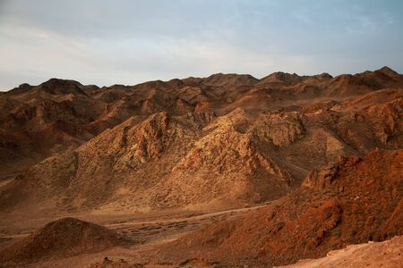 Photo for Charyn canyon is the famous place in Kazakhstan, similar to the Martian landscape - Royalty Free Image