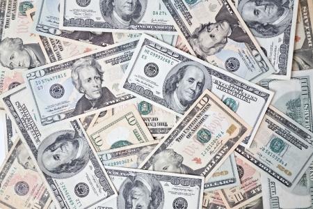 dollar banknotes background