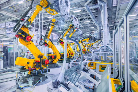 Example of industrial automation in the automotive industry.