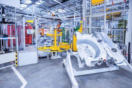 Photo pour spare parts in a car factory - image libre de droit