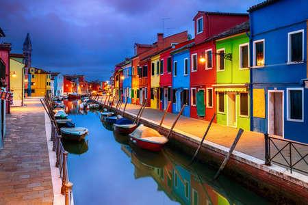 Foto für Colourful evening houses on Burano island, Venice - Lizenzfreies Bild