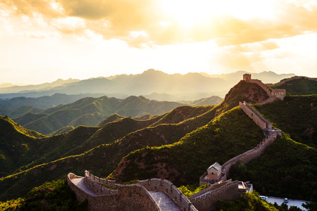 Great wall during sunset