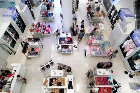 hangzhou,china-Oct,4,2014:interior of modern shopping mall
