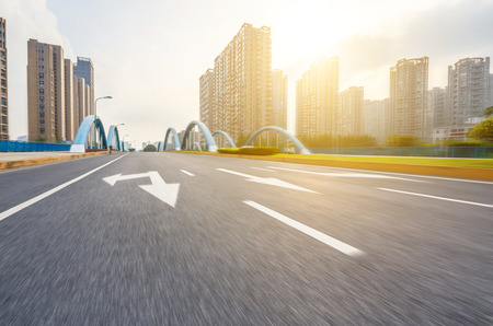 asphalt road in the city