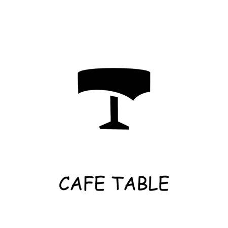 Illustration pour Cafe table flat icon. Hand drawn style design illustrations. - image libre de droit