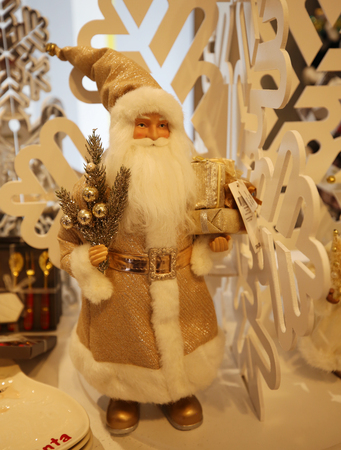 NEW YORK - DECEMBER 6, 2018: Christmas decorations at Macy's Herald Square in Manhattan.  In 1924 Macy's was declared the