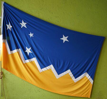 Flag of Magallanes, It is one of the regional symbols of the Chilean Magallanes y la Antartica Chilena Region