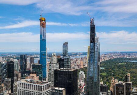 Photo pour Aerial view of Central Park and Midtown Manhattan - image libre de droit