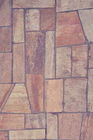 Photo for The texture of the floor is a beige tile irregular shape - Royalty Free Image