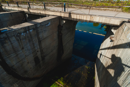 trip to the lake, an abandoned old dam, a warm sunny day