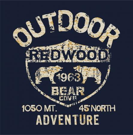 Outdoor Adventure - Vector artwork for boy t shirt in custom colors