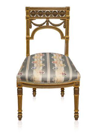 Foto de Golden chair isolated on white background - Imagen libre de derechos