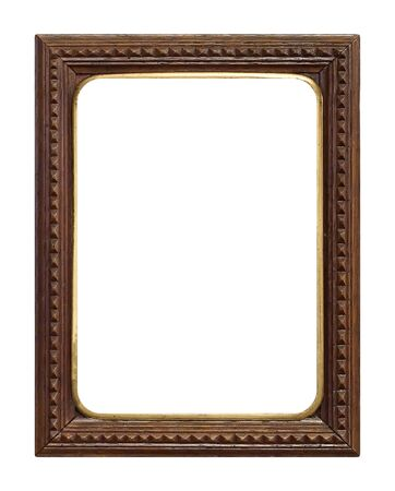 Foto de Wooden frame for paintings, mirrors or photo isolated on white background - Imagen libre de derechos