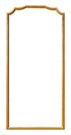 Photo pour Panoramic golden frame for paintings - image libre de droit