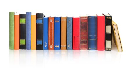 Photo for Stack of books isolated on a white background - Royalty Free Image