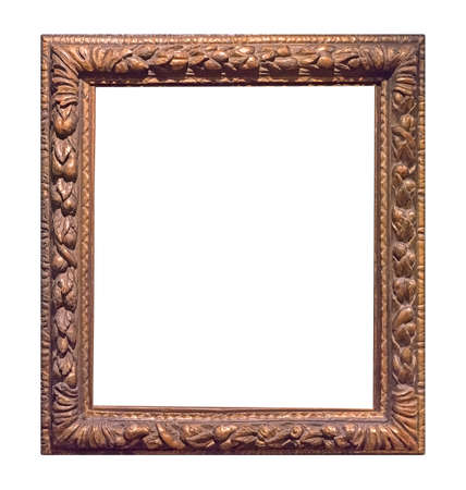 Photo pour Golden frame for paintings, mirrors or photo isolated on white background - image libre de droit