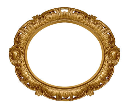 Foto de Golden frame for paintings, mirrors or photo isolated on white background. - Imagen libre de derechos