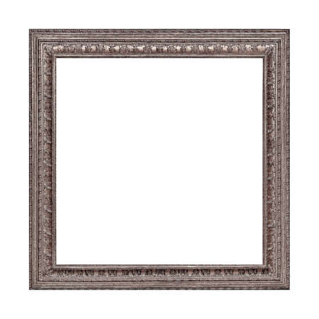 Photo pour Silver frame for paintings, mirrors or photo isolated on white background - image libre de droit