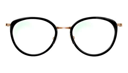 Photo pour Glasses isolated on white background for applying on a portrait. - image libre de droit