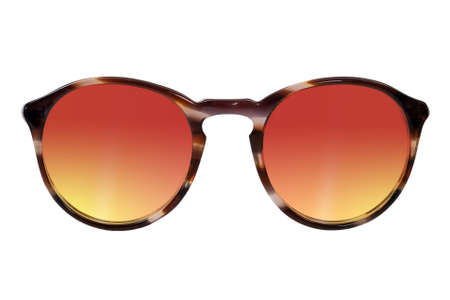 Photo pour Sunglasses with clear glasses isolated on white background - image libre de droit