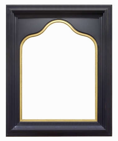 Photo pour Wooden gothic frame for paintings, mirrors or photo isolated on white background - image libre de droit