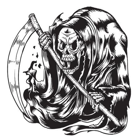 Illustration pour Grim reaper - image libre de droit