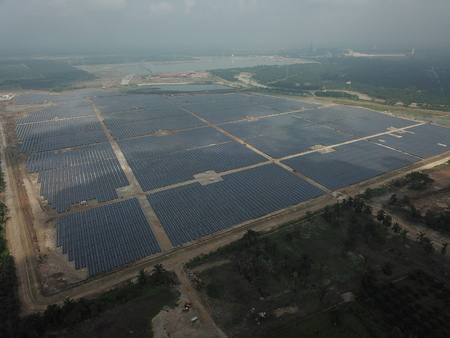Photo for Large-Scale Solar Farm - Royalty Free Image