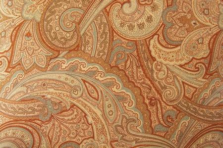 Foto de A brown paisley 70s style design pattern - Imagen libre de derechos