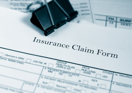 Insurance claim form and bills