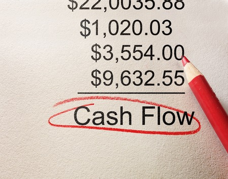 Cash Flow circled below positive accounting figures