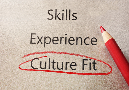 Photo pour Culture Fit circled in red below SKills and Experience text - image libre de droit