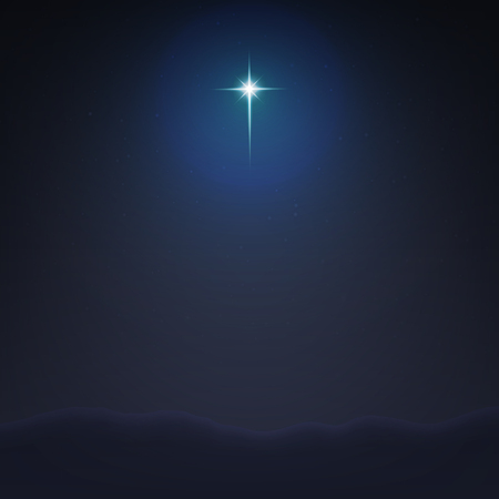 Illustration pour Stock vector illustration Bethlehem Star minimalistic background. The Birth of Jesus Christ. EPS 10 - image libre de droit