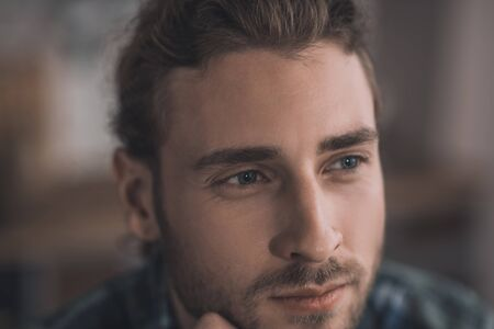 Photo for Thoughtful man. Young and handsome man thinking about important things - Royalty Free Image