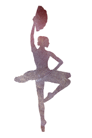 Photo for Photo of a ballerina with a fan in the image of a sparkling statuette - Royalty Free Image