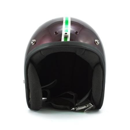 Retro helmet isolated on the white background