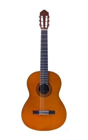 classical guitar isolated on white background