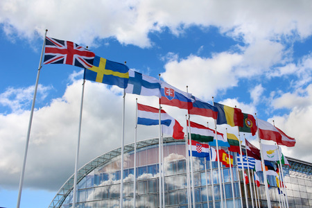 Photo pour Flags of the member states of the European Union - image libre de droit