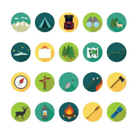 Camping icons set.