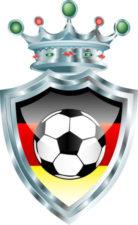vector illustration with soccer ball and german flag