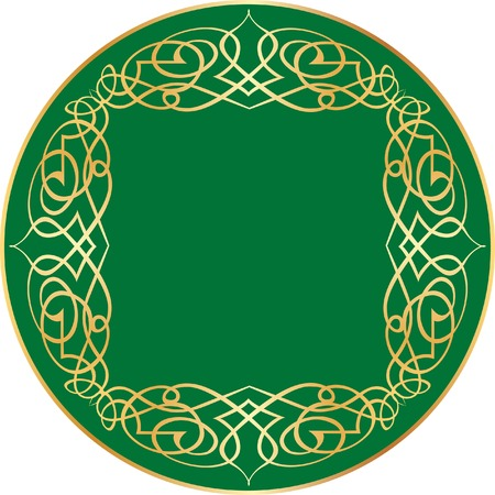 vector label with orient ornament
