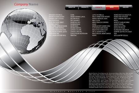 vector layout for abstract web site