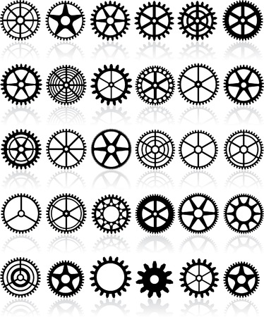 set of thirty different gears