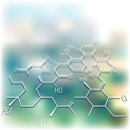 vector abstract mackground with chemistry structure
