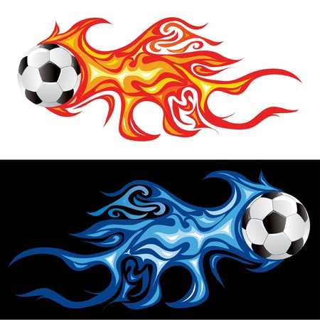 vector illustration of the soccer fireball