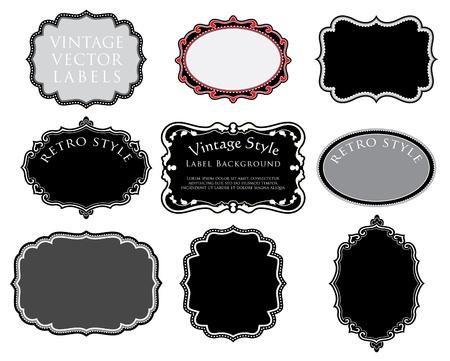 Foto de set of original hand drawn vintage labels - Imagen libre de derechos