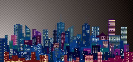 Illustration for abstract modern cityscape, vector editable illustration - Royalty Free Image