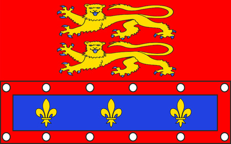Flag of Orne - department in the northwest of France, one of the departments in the region Basse-Normandie. The administrative center - Alencon.